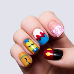 Nail art Mickey y sus amigos