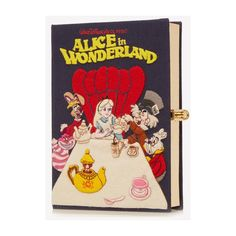 Alice in Wonderland Beaded Clutch Olympia Le-Tan Avenue32 ❤ liked on Polyvore featuring bags, handbags, clutches, beaded handbags, beaded purse and beaded clutches