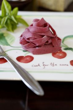 Cook for the Cure: Fresh Beet Pasta via Bell'alimento
