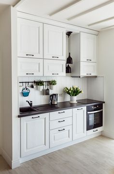 Kitchen Room Design, Kitchen Cabinet Design, Home Decor Kitchen, Interior Design Kitchen, Home Kitchens, Galley Kitchen Design, Kitchen Ideas, Kitchen Cabinets, Small Kitchen Remodel Cost