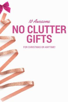 awesome gift ideas for Christmas or anytime.  I really love how all of these ideas won't cause clutter and will help my friends and family stay more organized!  Great ideas!
