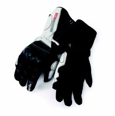 2012 Aprilia Winter touring gloves: #leather and Cordura, #waterproof membrane and #thermal fibre, protective inserts and #reinforced palm, #Aprilia #logo. #motorbike #motorcycle #sport #ride #black #white #winter #touring #gloves
