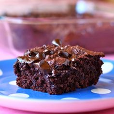 Chocolate Pudding Dump Cake - Youll never guess how easy it is.