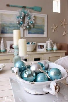 Breezy Designs - Coastal Living, Lifestyle and Coastal Decor Coastal Christmas Decor, Nautical Christmas, Christmas Bedroom, Coastal Decor, Christmas Home, Christmas Holidays, Holiday Decor, Christmas Ideas, Apartment Christmas