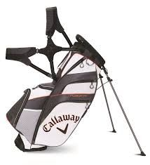 Callaway Fusion 14 Hybrid Stand Bag - Blk/Wht/Blu at golfessentials. Golf Stand Bags, Golf Bags, Golf Clubs, Good Things, Sports, Stuff To Buy, Hs Sports, Sport