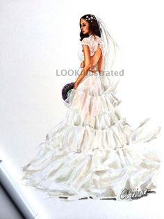 15 best bridal illustrations by lookillustrated images wedding World's Best Engagement Rings bridal custom fashion illustration by lookillustrated wedding gift wedding dress bride wedding illustration bridesmaid