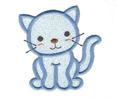 Kitty Cat Applique - 4 Sizes! | What's New | Machine Embroidery Designs | SWAKembroidery.com Applique for Kids