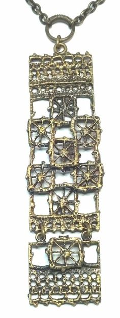 "Pentti Sarpaneva Finland - Beautiful Vintage Bronze Necklace ""Pitsi"" ""Lace""  #SarpanevaJewelry"