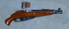 Mosin Nagant rifle converted into a pistol.