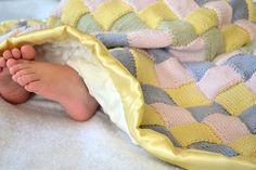 Entrelac Knitted Blanket