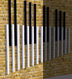 wall-mounted outdoor musical chime SKU. 002 CHROMATIC MEDIUM Bing bang bong