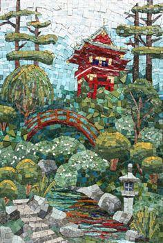 Asian Garden Mosaic