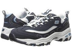57d3de536d SKECHERS D Lites - Biggest Fan (Navy) Women s Shoes. Keep your look classic  in the SKECHERS D Lites Biggest Fan shoe. Smooth trubuck synthetic leather  upper ...