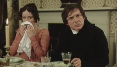 Jennifer Ehle (as Lizzy Bennet), David Bamber (Mr Collins), in Pride And Prejudice (BBC . Superbly re-written for TV. Bbc, Mr Collins, Jennifer Ehle, Jane Austen Movies, Elizabeth Gaskell, Film Serie, Romance, Pride And Prejudice, Period Dramas