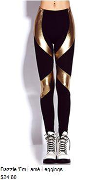 Buying these Dazzle 'em lamé leggings tommorow! #f21
