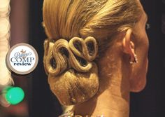 Competitive Bun Swirls Hairstyle Tutorial - http://dancecompreview.com/competitive-bun-swirls-hairstyle-tutorial/ #dcr #dancecompreview - Everything On Ballroom Dancing
