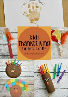 Celebrate November and Thanksgiving with fun Thanksgiving Turkey Crafts for kids! Thanksgiving Crafts For Kids, Thanksgiving Turkey, Fall Crafts, Thanksgiving Recipes, Fun Easy Crafts, Crafts For Kids To Make, Kids Crafts, Paper Plate Crafts For Kids, Fathers Day Crafts