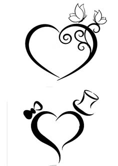 Love the top pic, add our initials and that's the one. Love the top pic, add our initials and that's the one. Machine Silhouette Portrait, Stencils, Heart Tattoo Designs, Stencil Designs, Pyrography, Easy Drawings, Rock Art, Doodle Art, Swirls