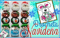 Divertida Brocheta Navideña - Bomgoletas Navidad 2015