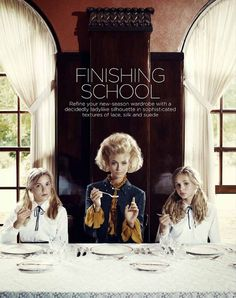 """The Terrier and Lobster: """"Finishing School"""" by Corrie Bond for Marie Claire Australia"""