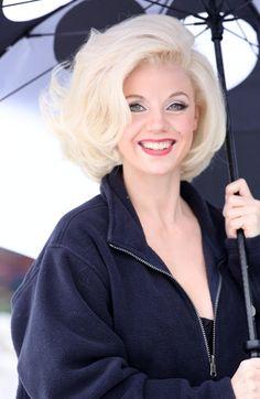 Kelli Garner as Marilyn Monroe in The Secret Life of Marilyn Monroe.  Loved here hair.
