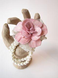 Pink Sola Flower Wristlet Corsage - Blush Corsage - Dusty Rose Corsage Keepsake Wristlet Corsage by Kim Zylstra www.thebackyardgardener.net