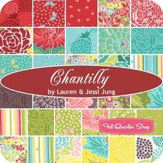 Chantilly Charm PackLauren & Jessi Jung for Moda Fabrics - Charm Packs & Squares   Fat Quarter Shop