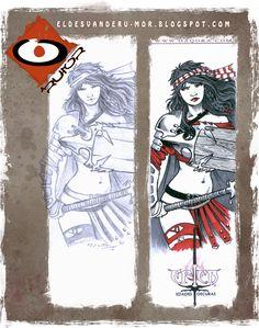 Ilustración para dedicatoria hecha por ªRU-MOR para ÉPICA Edades Oscuras, juego de cartas de fantasía medieval