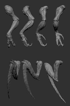 The insect's separate sculpted body parts Monster Concept Art, Alien Concept, Monster Art, Creature 3d, Creature Concept Art, Creature Design, Alien Creatures, Fantasy Creatures, Mythical Creatures