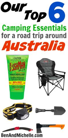 Our Top Six Camping Essentials for a Road Trip Around Australia These are the si., life hacks cleanses life hacks ideas life hacks mini life hacks road trips life hacks tips Camping Packing, Camping Essentials, Tent Camping, Camping Gear, Camping Hacks, Stealth Camping, Camping Foods, Camping Guide, Camping Stuff