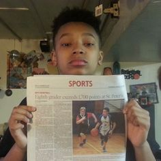 In the papers.... Click the link in my bio to read the article #iamblessed #humble #gabe3x #youngestdoinit #1000points #blessed