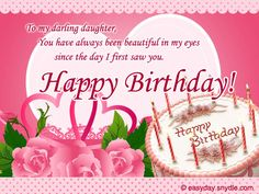 Birthday Messages for Your Daughter | Easyday