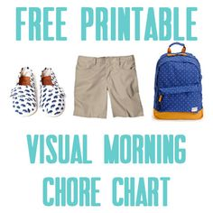Free Printable visual chore chart - illistyle.com Parenting Websites, Parenting Classes, Co Parenting, Parenting Styles, Foster Parenting, Free Printable Chore Charts, Chore Chart Kids, Free Printables, Charts For Kids