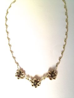 Flower silver necklace $10