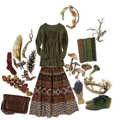 Designer Clothes, Shoes & Bags for Women Classy Outfits, Pretty Outfits, Cool Outfits, Fashion Outfits, Forest Fashion, Witchy Outfit, Witch Fashion, Hippie Outfits, Mori Girl