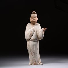 Ancient Chinese Tang Dynasty Ceramic Figure of an Immortal Judge - 618 AD