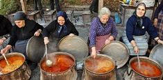 """The smells of the traditional bean soup made by the Macedonian ladies of """"Palio Zazikos"""" Pieria Mountains, Greece cooking for the feast of the Virgin Mary in their ancestral Greek lands. from from northern and the rest of French Riviera Style, Macedonian Food, Greek Cooking, Alexander The Great, Bean Soup, Greek Recipes, Greece Travel, Health And Nutrition, Kai"""