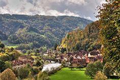 Town - Saint-Ursanne, Jura, Switzerland