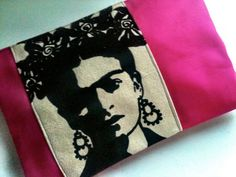 frida kahlo clutch by minimalista on Etsy, $25.00