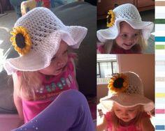Ruffled-Brim Sun Hat Free pattern on Hatting Madly Crochet at http://hattingmadlycrochet.wordpress.com/2011/09/30/free-ruffled-brim-sunhat/