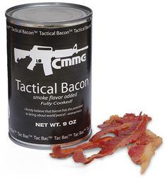The best canned bacon we've ever tasted. Really, this stuff is so delicious it's scary. It has a 10 plus year shelf life and is as tasty in year one as it is in year ten. Perfect for stocking up so you can survive the pending zombie invasion. Camping Survival, Emergency Preparedness, Survival Gear, Survival Skills, Doomsday Survival, Emergency Power, Emergency Preparation, Survival Stuff, Wilderness Survival