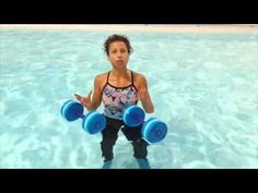 Aqua Instructor tip #38 shallow jogging with dumbbells - YouTube