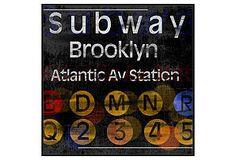 Brooklyn Subway Print
