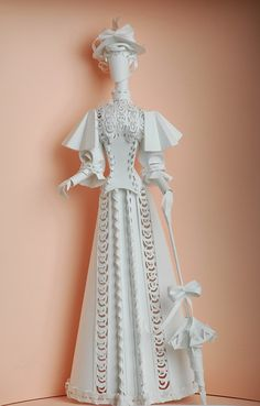 historical costume from paper on Behance