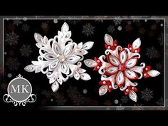 Нежная снежинка. Канзаши. Мастер-класс. / Delicate snowflake. Kanzashi. Master class. - YouTube