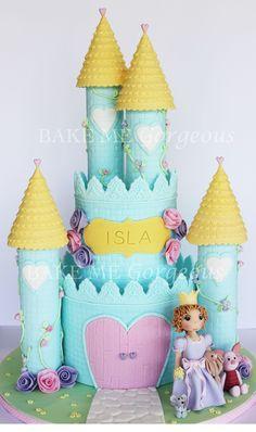 facebook.com/bakemegorgeous  Princess castle cake