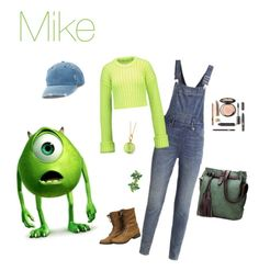 """Mike"" by chocolate-loving-demigod ❤ liked on Polyvore featuring Disney, Cheap Monday, MM6 Maison Margiela, Syna and Mudd"