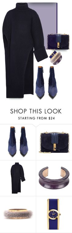 """""""Indigo child"""" by nino-d-f ❤ liked on Polyvore featuring Toga, Altuzarra, Jil Sander, Marni and Caravelle by Bulova"""