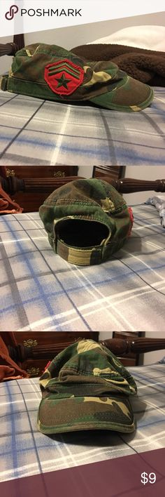 Army hat! Camouflage army hat! Worn once! I'm great condition Accessories Hats