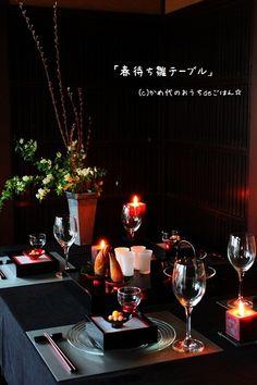 かめ代さん家のキャンドル卓「春待ち雛テーブル 季節を愉しむキャンドル卓」 || キャンドルを使って食卓を彩る。おうちごはんのあかり演出、ホームパーティーの提案。